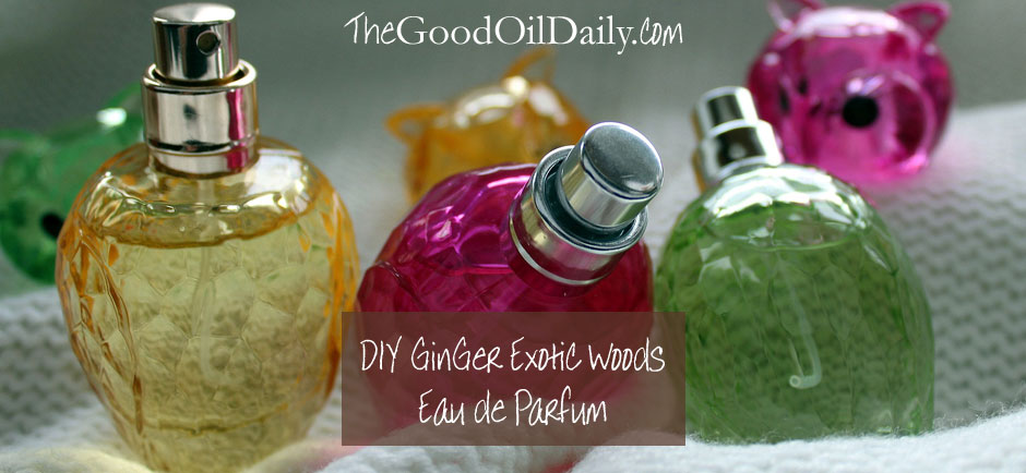 ginger exotic woods perfume, essential oils, the good oil daily